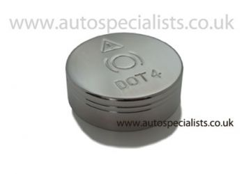 Brake reservoir cap cover with information logo's