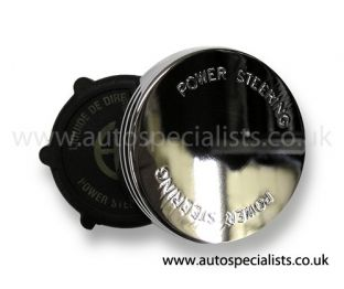 Power Steering Cap Cover with Power steering logo (Cog type)