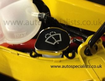AS Stainless Steel Washer Cap Cover with Logo for MK3 Focus
