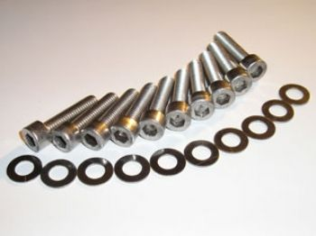 AS Zetec Silver Top Cam Cover Stainless Bolt Set
