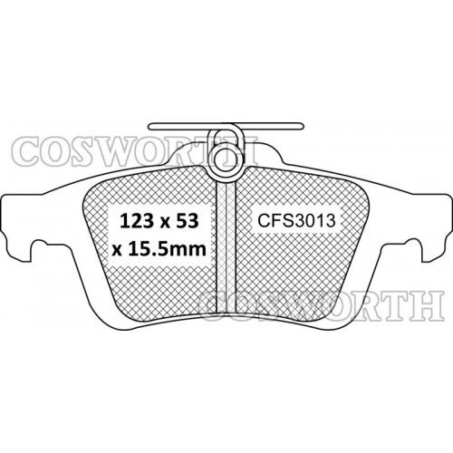 Cosworth StreetMaster Rear Brake Pads Ford Focus ST225 2005+