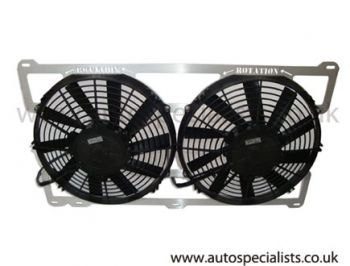 Cosworth twin 11inch Italian made Fans with frame support