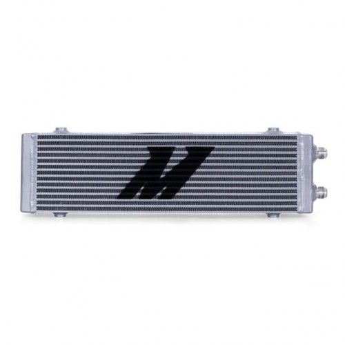 Mishimoto Universal Dual Pass Bar & Plate Oil Cooler, Large, Silver