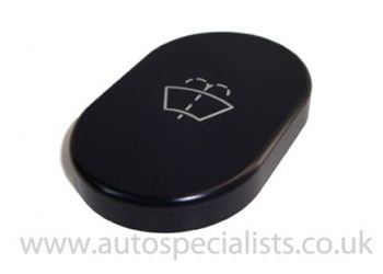 Pro-Series Satin Black Oval washer bottle replacement cap with logo