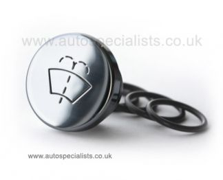 Round washer Bottle Stopper, with washer logo engraved on the top.