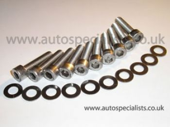 Zetec Silver top Cam cover stainless bolt set
